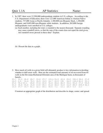 Phoenix statistics quiz 1
