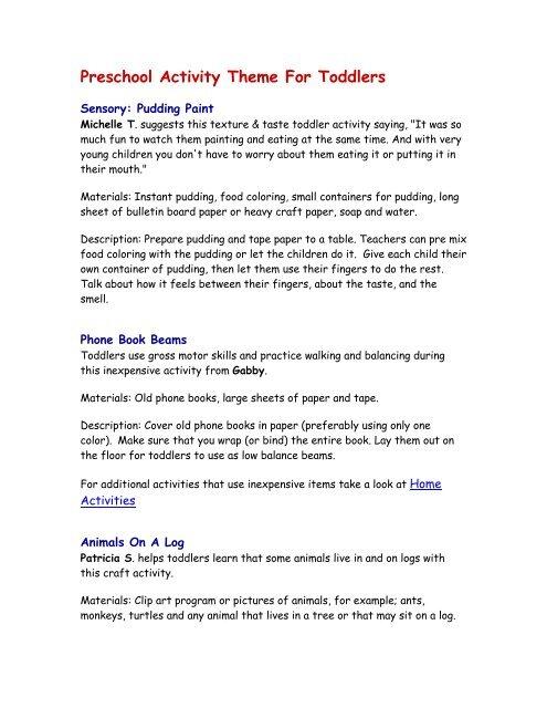Preschool Activity Theme For Toddlers Child Development Preschool worksheets help your little one develop early learning skills. preschool activity theme for toddlers