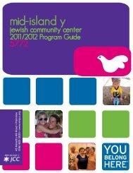 the Annual Program Guide - Mid Island Y JCC