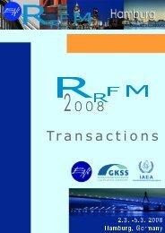 RRFM 2008 Transactions - European Nuclear Society