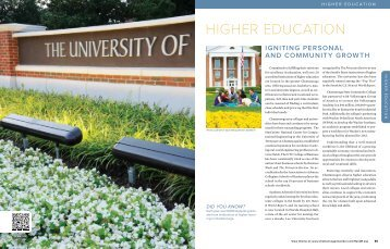 HIGHER EDUCATION - Chattanooga Area Chamber of Commerce