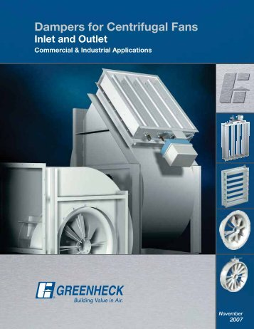 Dampers for Centrifugal Fans - Greenheck