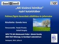 Gonda Imre: Polimer/lignin keverékek előállítása és ... - MTA KK AKI