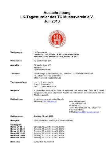 Ausschreibung Muster 2 - Hamburger Tennis-Verband e.V.