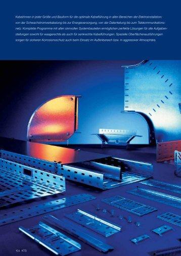 PDF Datei: Broschüre / OBO / Katalog KTS Kabelrinnensysteme