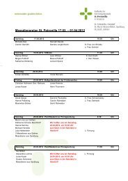 Messdienerplan St. Petronilla 17.03. – 01.04.2012