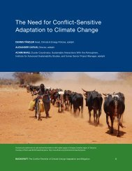 the need for Conflict-Sensitive adaptation to Climate Change - adelphi