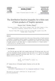The distribution function inequality for a finite sum of finite products ...