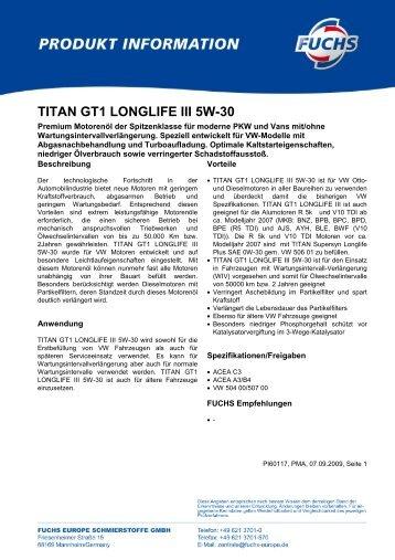 TITAN GT1 LONGLIFE III 5W-30 - Korb Schmierstoffe