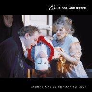 Årsmelding 2001 - Hålogaland Teater