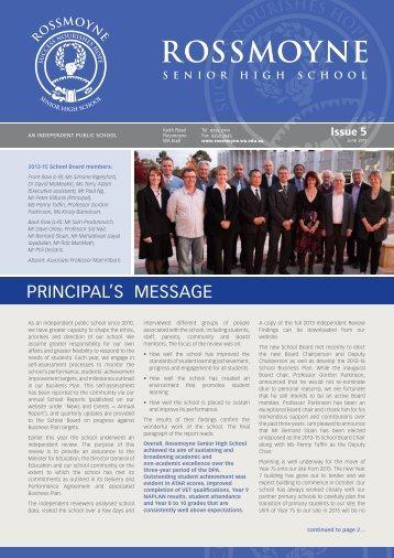 2013 Issue 5 - Rossmoyne Senior High School