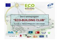 Introduktion af Eco-Building Club