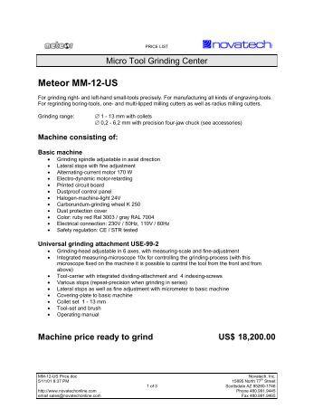 Meteor MM-12-US - Novatech Inc.