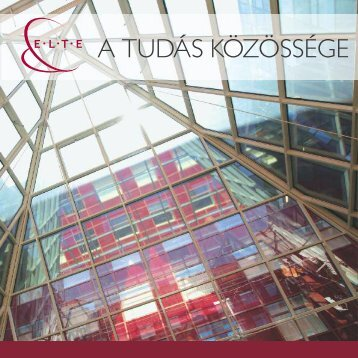 A tudás közössége - ELTE Pályázati és Innovációs Központ - Eötvös ...