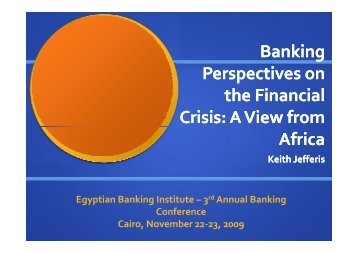 Banking Perspectives on the Financial Crisis: A View from Africa
