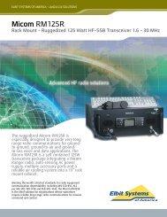 Micom RM125R - Elbit Systems of America