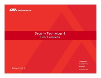 Security Technology & Best Practices