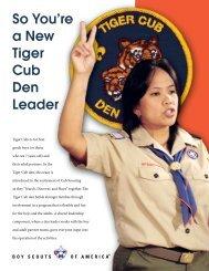 So You're a New Tiger Cub Den Leader - ScoutLander