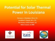 Potential for Solar Thermal Power In Louisiana - Lafayette Economic ...