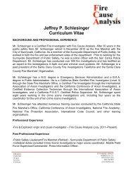 J. Schlesinger CV.pdf - Fire Cause Analysis