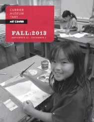 FALL:2013 - Currier Museum of Art