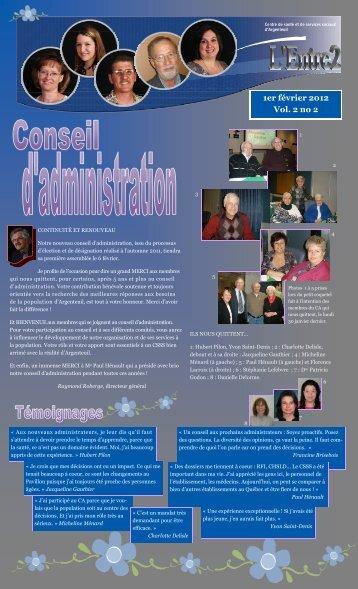 1er février 2012 Vol. 2 no 2 - CSSS Argenteuil