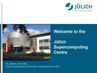 the Julich Supercomputing Centre - Prace Training Portal