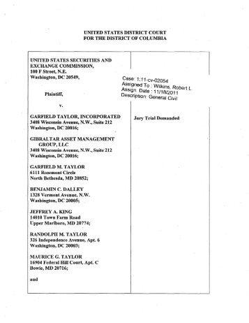 SEC Complaint: Lawrence J. Robbins - MemoFin.fr