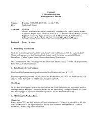 Protokoll 3. Elternbeiratssitzung Kindergarten St. Florian Termin ...