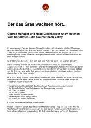 Der das Gras wachsen hört - Golf Valley GmbH
