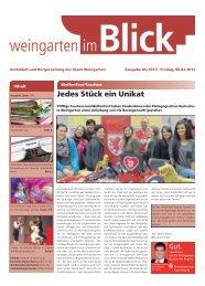 Ausgabe 05/2013 - Weingarten im Blick