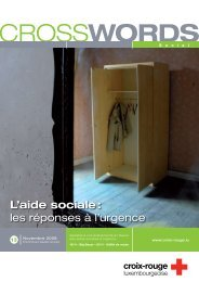 L'aide sociale - Croix-Rouge luxembourgeoise