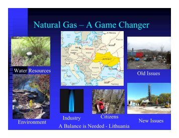 Presentation on Black Shale Unconventional Gas in Lithuania
