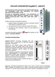 VHF/UHF KONVERTER DigiMATV - AM1670