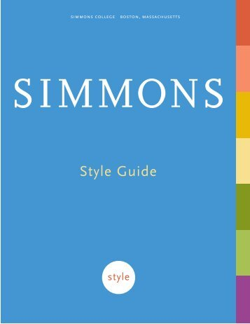 Style Guide - Simmons College