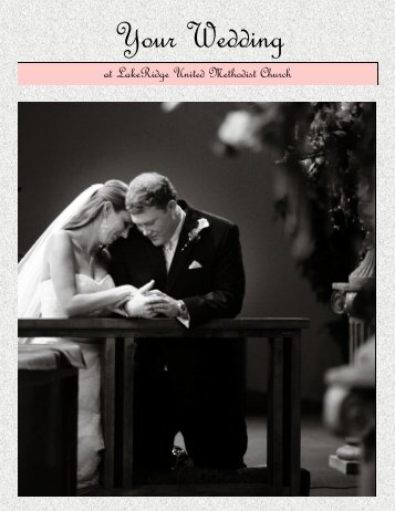 wedding manual 10-2012 - LakeRidge United Methodist Church