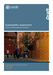 Sustainability Assessment - Leeds City Council Consultations
