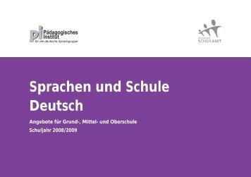 Sprachen und Schule Deutsch - Schule und Kindergarten in Südtirol