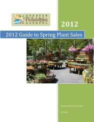2012 Guide to Spring Plant Sales - Greater Philadelphia Gardens