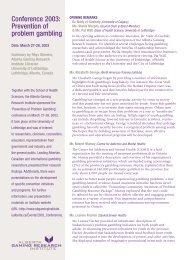 Issue 5, Volume 2 - Insert Jun / Jul 2003 - Alberta Gambling ...
