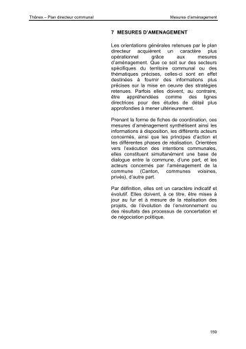7. mesures d'aménagement - Etat de Genève