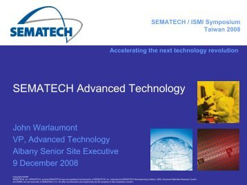 SEMATECH Advanced Technology