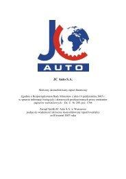 JC Auto S.A. - Inter Cars SA