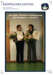 Knüppelches Zeitung 1-2010 - Spielmannszug 1902 Rheinbach