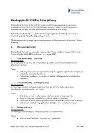2013-2014 Handlingsplan for Troms fylkeslag - Human-Etisk Forbund