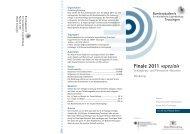 Finale 2011 »spezial« - Bundesakademie für musikalische ...