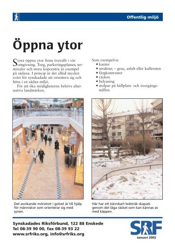 Öppna ytor [pdf] - Synskadades Riksförbund