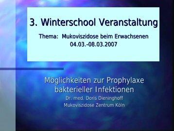 Prophylaxe bakterieller Infektionen - Die Abteilung