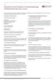 Informationen für den Fernabsatz von ... - abcbank