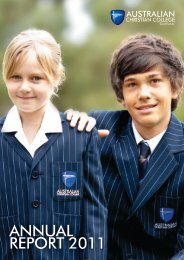 2011 Annual School Report - Southlands - Australian Christian ...